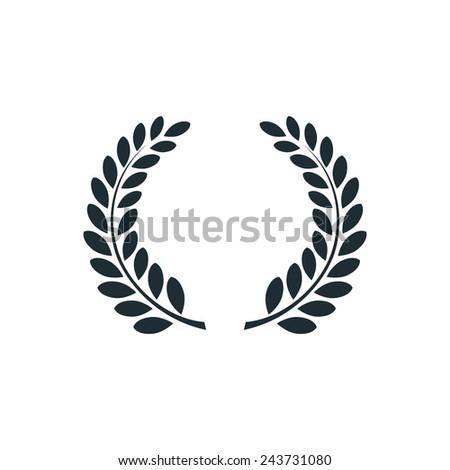 Laurel wreath , simple conceptual logo - stock photo