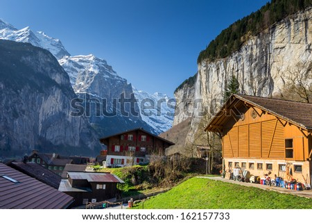 Lauterbrunnen small city in Swiss