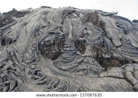 Lava rock formation in Hawaii. - stock photo