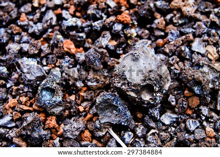Lava Rocks close up on the Galapagos Islands - stock photo