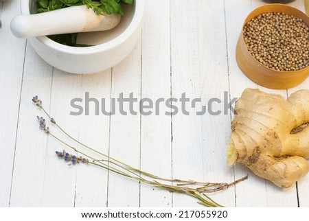 lavender and ginger root