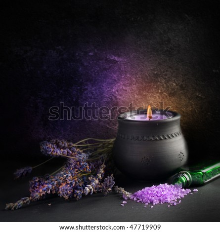 Lavender.Aromatherapy - stock photo