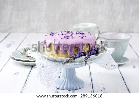 Lavender Cheese Cake - stock photo
