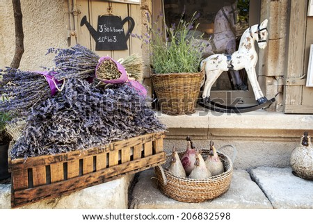 Lavender for sale in Provence, France. - stock photo