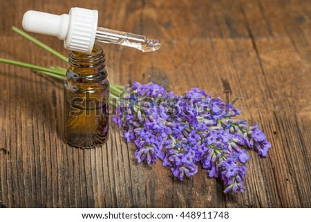 lavender herbal extract - stock photo