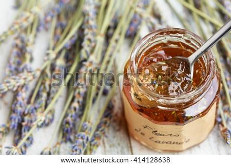 lavender jelly - stock photo