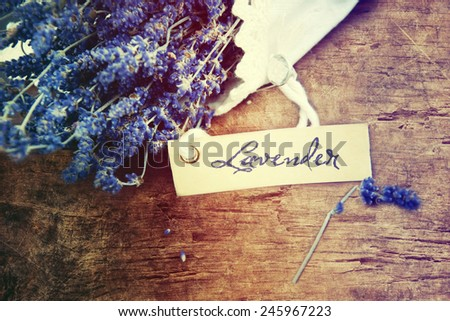 Lavender over wooden background