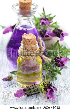 Lavender products. - stock photo