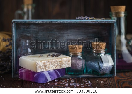 Lavender soap and sea salt
