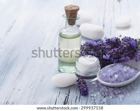 lavender spa arrangement - stock photo