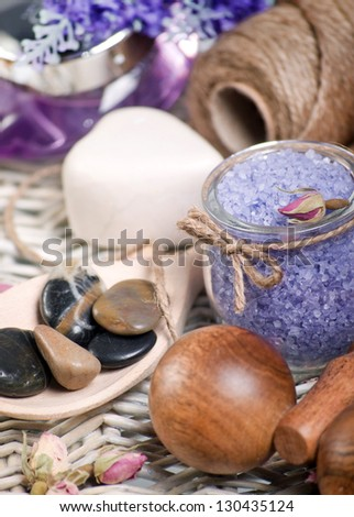 Lavender spa background