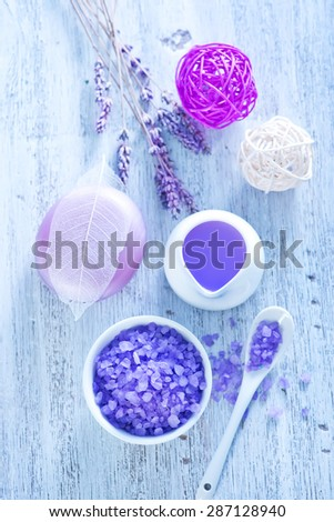 Lavender spa treatment - stock photo