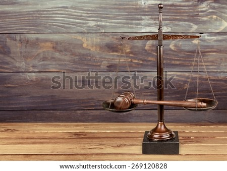 Law. American justice series - stock photo