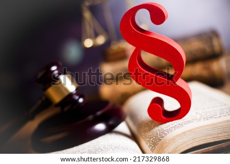 Law and justice - stock photo
