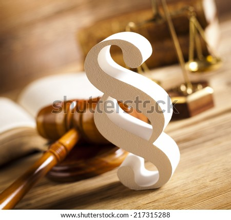 Law and justice concept, paragraph  - stock photo
