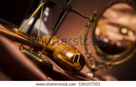 Law and justice concept,wooden gavel