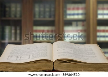 law books in the office with library - stock photo