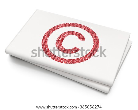 Law concept: Copyright on Blank Newspaper background - stock photo