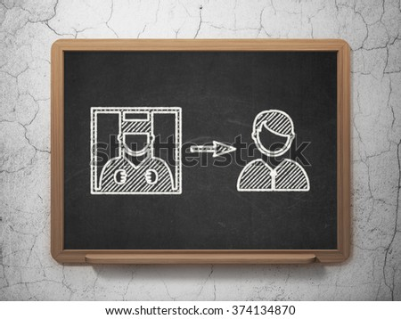Law concept: Criminal Freed on chalkboard background - stock photo