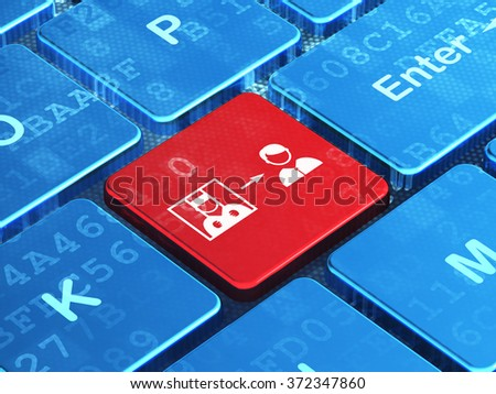 Law concept: Criminal Freed on computer keyboard background - stock photo