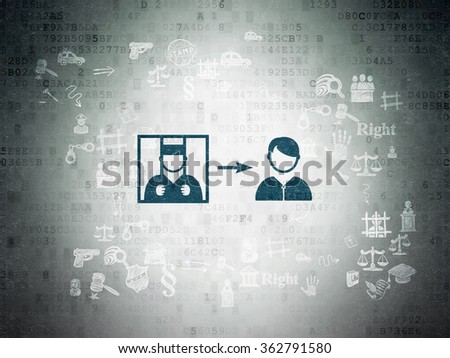 Law concept: Criminal Freed on Digital Paper background - stock photo