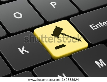 Law concept: Gavel on computer keyboard background - stock photo