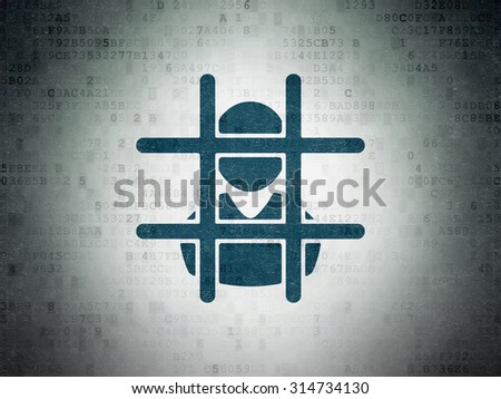 Law concept: Painted blue Criminal icon on Digital Paper background - stock photo