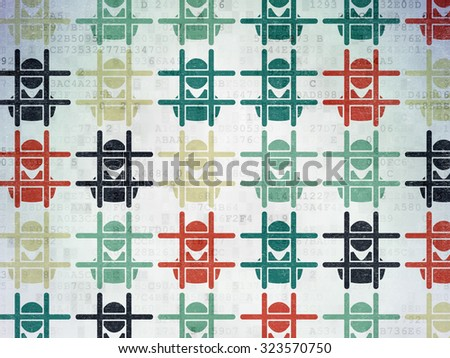 Law concept: Painted multicolor Criminal icons on Digital Paper background - stock photo