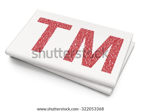 Law concept: Pixelated red Trademark icon on Blank Newspaper background - stock photo