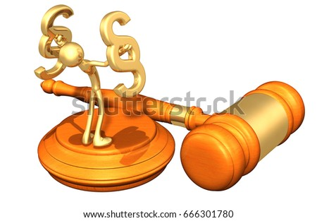 Law Concept Original 3d Character Illustration Stock Illustration