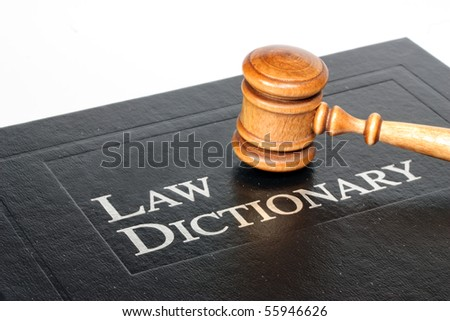 Law Dictionary and Gavel - stock photo