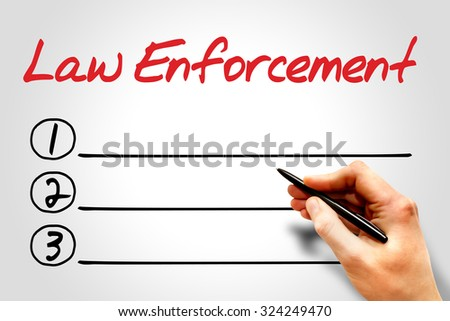 Law enforcement blank list concept - stock photo