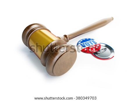 law gavel vote election badge button for 2016