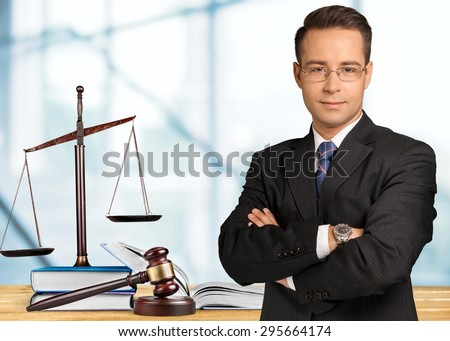 Law, lawyer, books. - stock photo