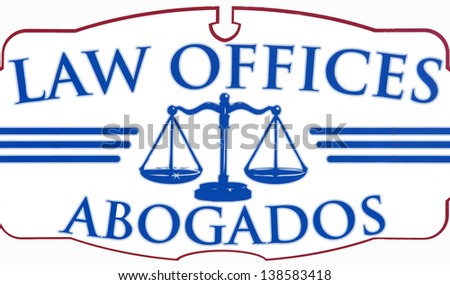 Law Offices Abogados sign - stock photo