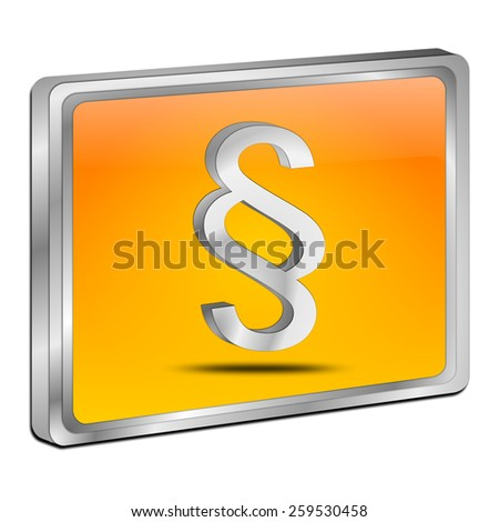 Law paragraph button - stock photo