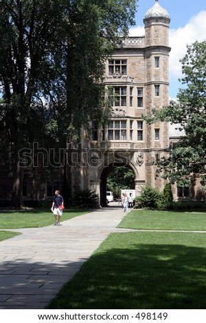 Law quad at the University of Michigan - stock photo