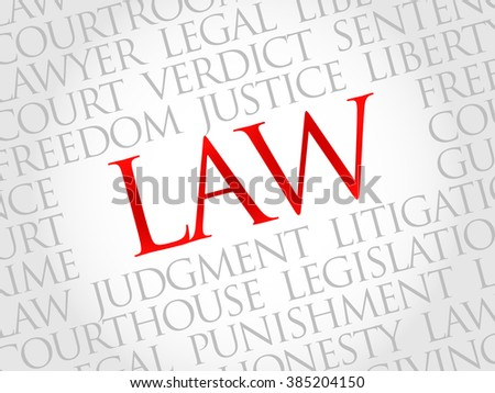 Law word cloud concept - stock photo