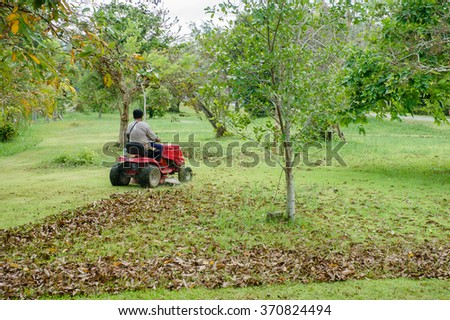 Lawnmower Man - stock photo