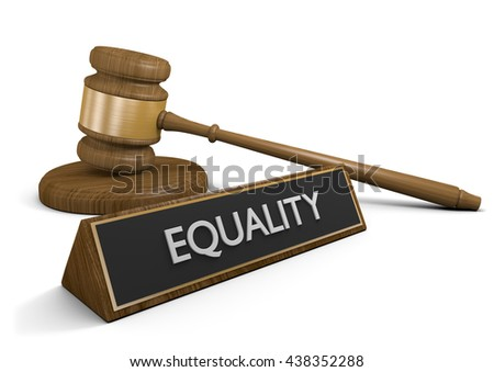 Laws for social, racial, job, and rights equality, 3D rendering