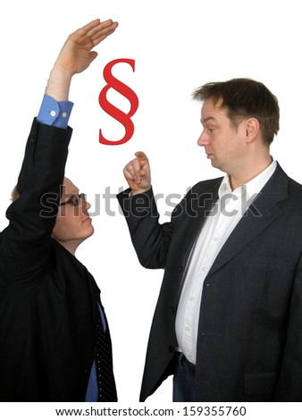 Lawyer and Attorney - stock photo