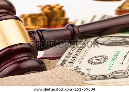 lawyer gavel - stock photo