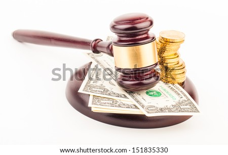 lawyer gavel  - stock photo