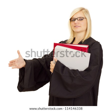 Lawyer ready for the next lawsuit - stock photo