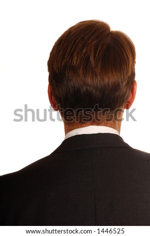 lawyer with back turned