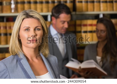 Lawyers in the law library at the university - stock photo