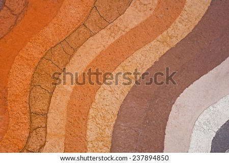Layer of soil for background - stock photo