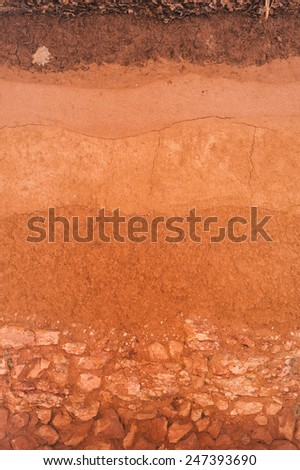 Layer of soil for text and background - stock photo