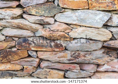 Layer of unshaped rock for wallpaper