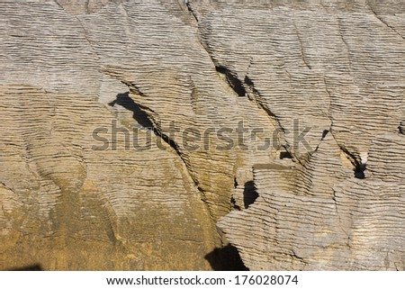 Layer rock - stock photo
